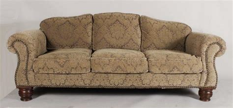 damask sofa igavel auctions lillian august camel back sofa damask