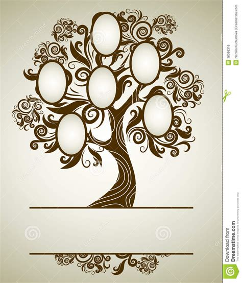 frame design online free vector family tree design with frames stock vector