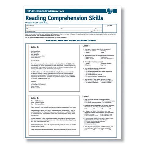 Reading Comprehension Test Online | workplace reading comprehension online test
