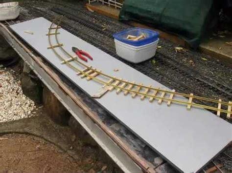 Backyard Trains Making G Scale Track Youtube