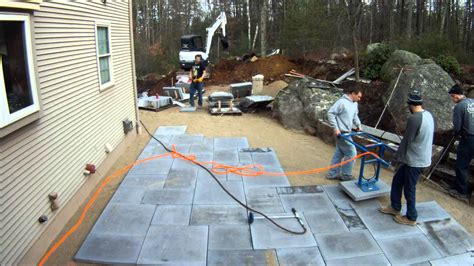 how to your to lay exterior how to lay pavers for best way with large paving slabs and beige wall plus