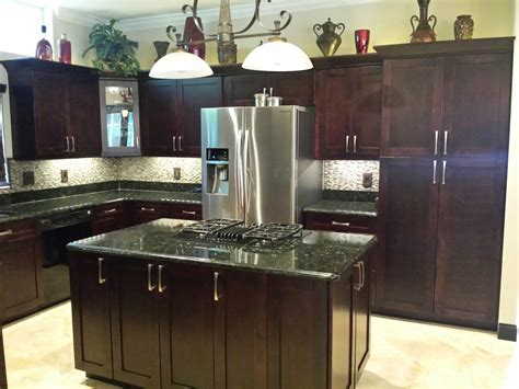Kitchen Pro Cabinets by Pro Cabinetry Single Shaker Chocolate
