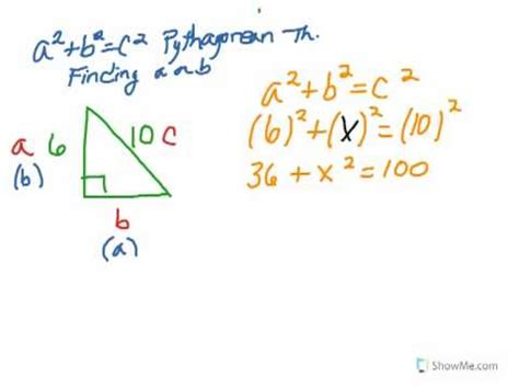 Where To Find To With 2 Pythagorean Theorem Find A Or B