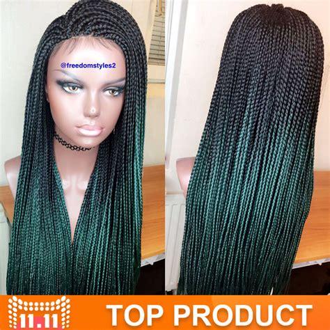 ombre box braiding hair aliexpress com buy green ombre kanekalon braiding hair