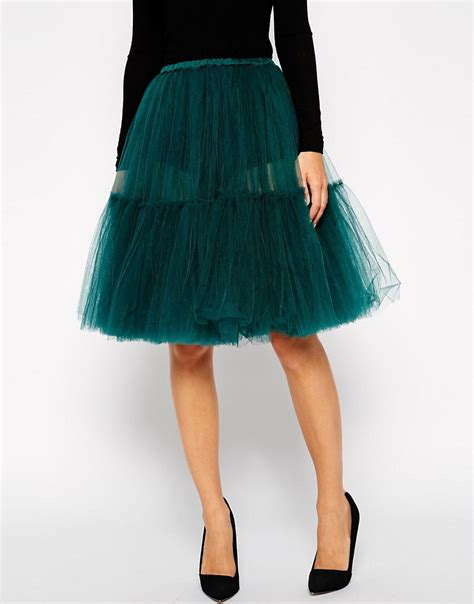 asos asos midi tulle skirt at asos