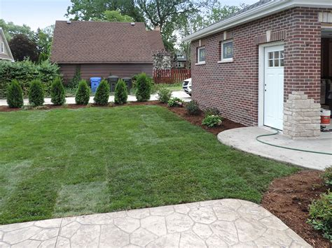 backyard garage 1113 peale park ridge landscaping and hardscaping brick