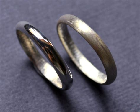 hers and hers wedding band set wedding rings by epheriell