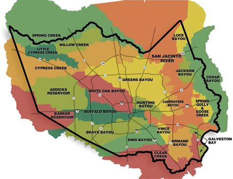 houston drainage map hcfcd harris county s watersheds
