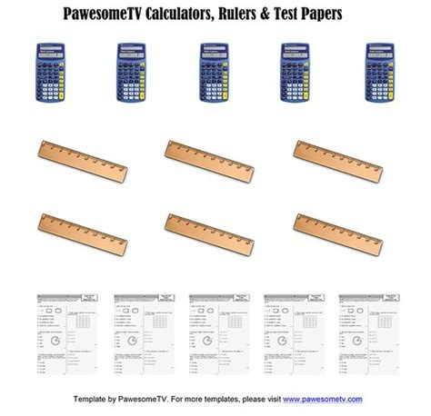 test calculator diy calculators rulers test papers pawesometv