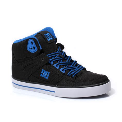 mens high top black sneakers dc shoes spartan high top black blue mens trainers