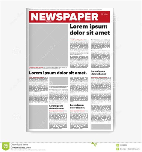newspaper layout design download newspaper layout vector stock vector illustration of