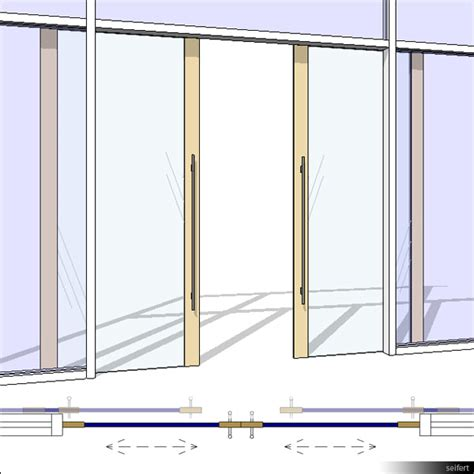 revit curtain wall door building rfa door sliding wall