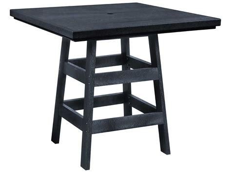 Plastic Bistro Table C R Plastic Generation 42 Square Pub Table T13