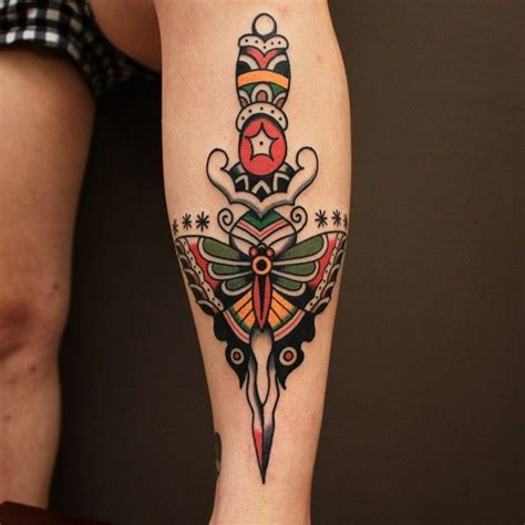 moth and dagger tattoo best 20 traditional butterfly ideas on