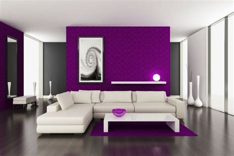 purple accent wall in living room 50 colored walls which give character to the contemporary apartment fresh design pedia