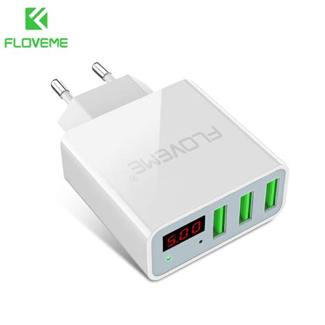 Fast Charger Pengecas Usb 6 In 1 Output 4 Slot 2a 2 Slot 1a floveme usb charger 15w 3 ports led display portable phone chargers fast usb charging travel