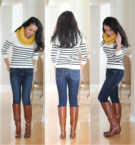 bp runway boots friendly boots striped sweater