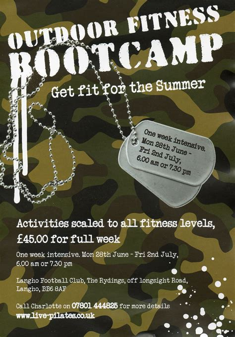 fitness boot c flyer template bootc flyer pilkington personal trainer jppt