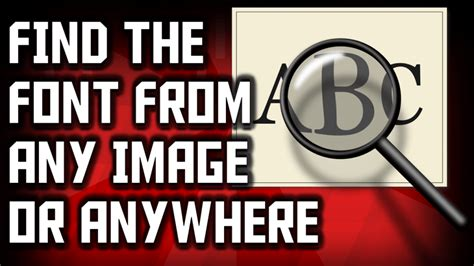identify font from image how to identify a font from an image or anywhere