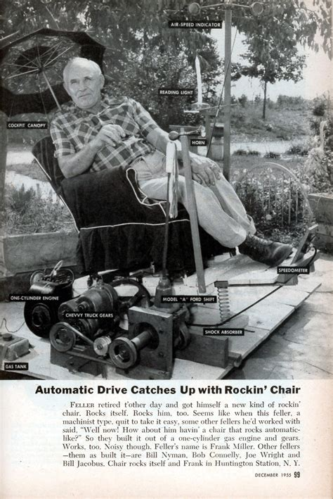 motorized rocking chair modern mechanix