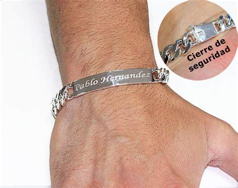 pulsera de plata grabada para hombre - Cadenas Grabadas Para Hombre
