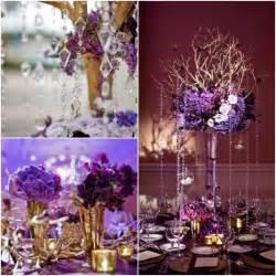 purple centerpieces ideas beautiful ideas for purple and gold wedding centerpieces