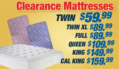Mattress Clearance Billy Bobs Beds And Mattresses Clearance Mattresses