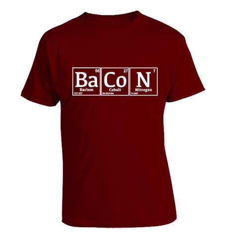 bacon pattern t shirt periodic bacon t shirt