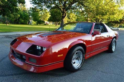 85 camaro t top beautiful mostly original survivor 1985 chevrolet camaro