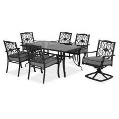 Hton Bay Patio Tables Hton Bay Vichy Springs 7 Patio High Dining Set Hton Bay Vichy Springs 7 Patio High Dining Set