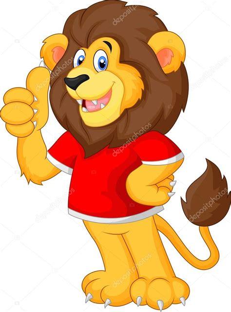 imagenes de leones bravos cute cartoon leeuw geven duim omhoog stockvector