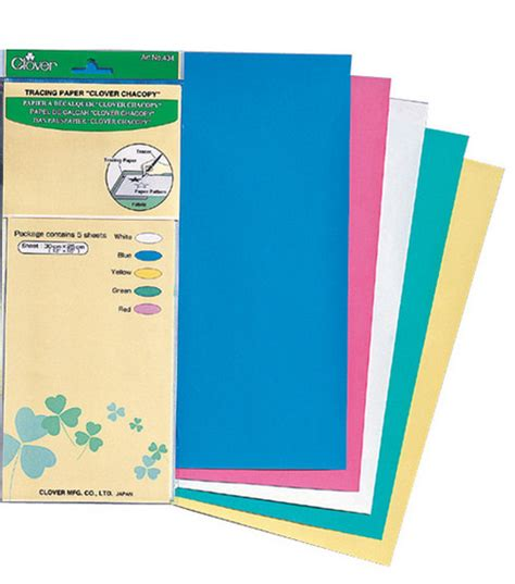 pattern tracing paper joann clover 174 chacopy tracing paper 12 quot x10 quot 5 pkg jo ann