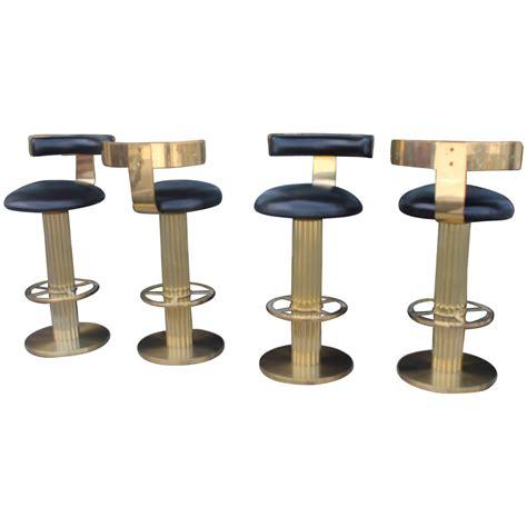 brass bar stools vintage set four swivel brass excalibur barstools bar