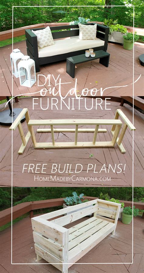 how to build outdoor couch outdoor furniture build plans home made by carmona