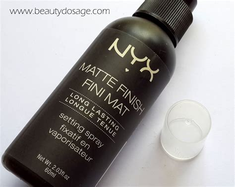 nyx spray matte review of the nyx matte finish setting spray from blanc to