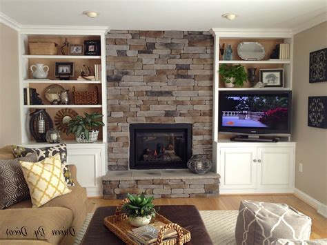 fireplace with built in bookshelves american hwy