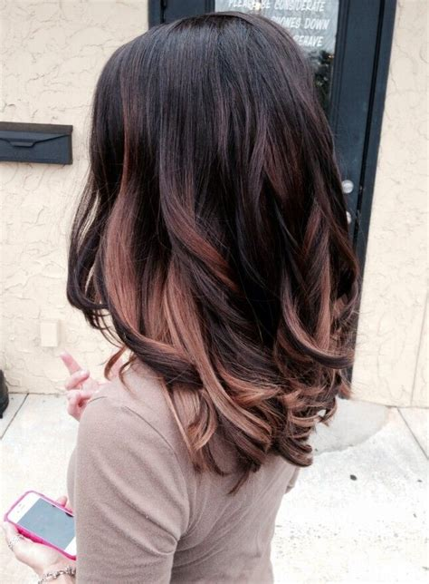 rose gold hair dye dark hair 20 hair with blonde highlights hairstyles you must see