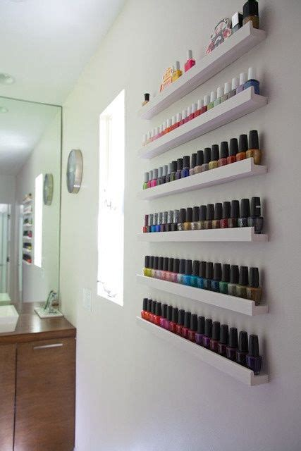 Regal Nagellack by 20 Ways To Use Ikea S Ribba Picture Ledges All The