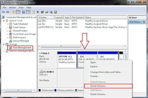 Hardisk Untuk Komputer cara membagi atau membuat partisi baru hardisk komputer