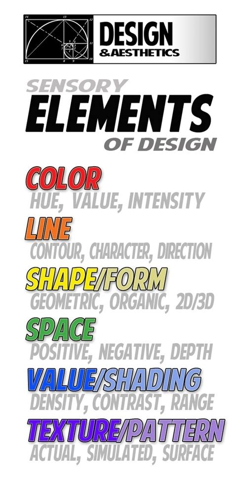 design art elements elements of art worksheets elements and principles of