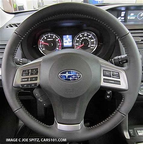 subaru forester steering wheel are the gauges and instrument panels the same as 2014
