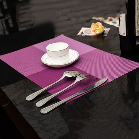 square placemats for table 4 pcs insulate square placemat tableware restaurant table
