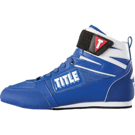 title boxing shoes title box incite elite boxing shoes blue