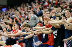 best college basketball student sections ncaa basketball top 25 features upsets galore