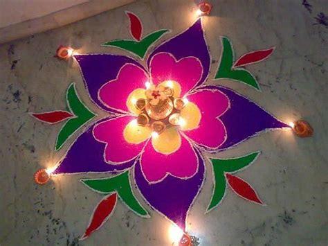 Ugadi Decorations At Home by Beautiful Simple Rangoli Designs For Diwali Deepak