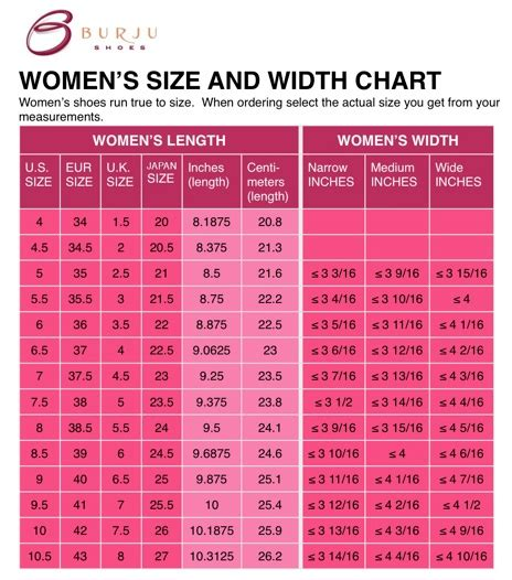 shoe size chart with letters burju shoes size charts