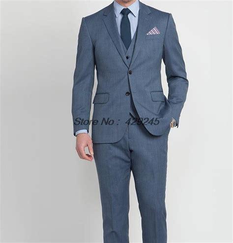 blue pattern men s suit 2014 new fashion wedding suits for men steel blue micro