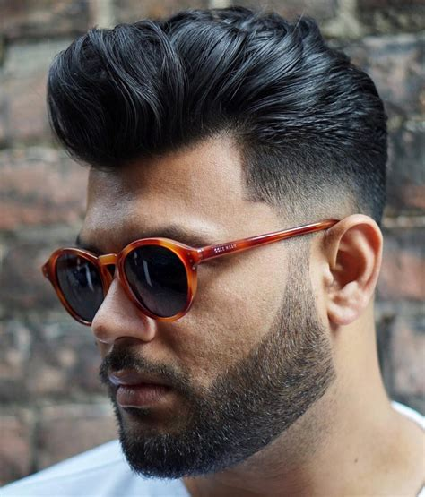 pompadour haircut boys pompadour curly hairstyle fade haircut