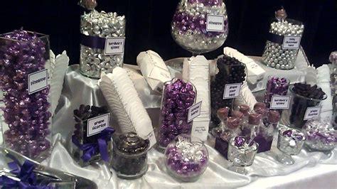 Purple and Silver Wedding Candy buffet in San Jose, Ca