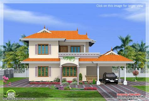 model double storey house design green homes thiruvalla 4 bedroom india style home design in 2250 sq feet